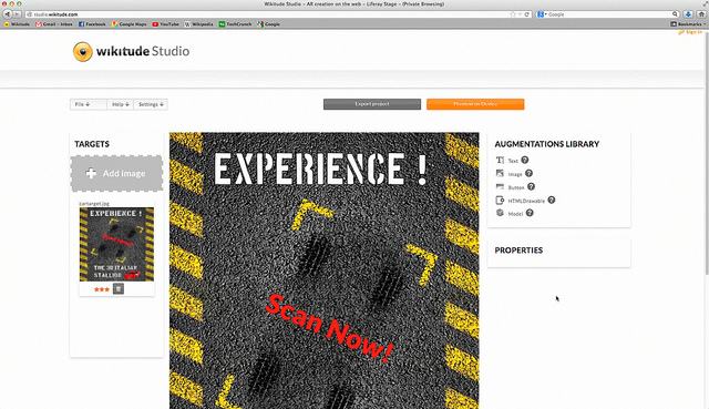 The Wikitude Studio Interface