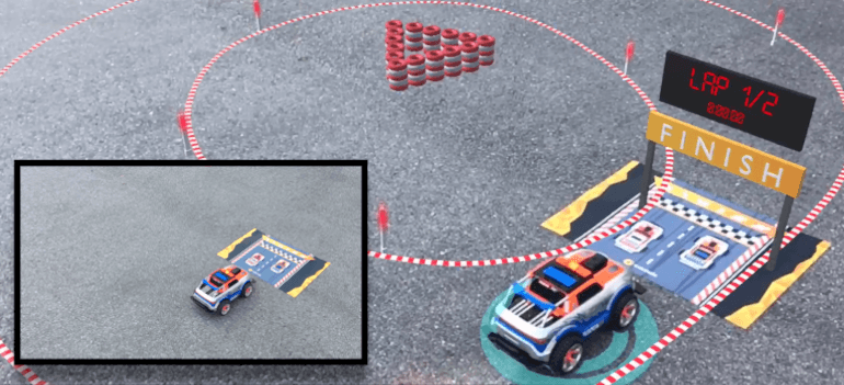 Augmented Reality Demo with Simultaneous AR Tracking: Object + Image + Positional