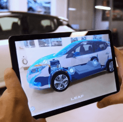 The Nissan Leaf AR app