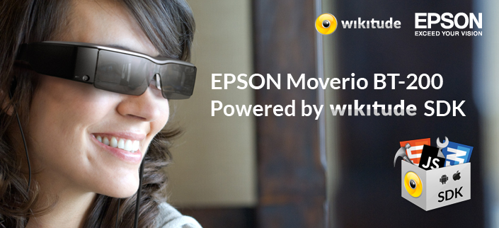 d640fff26d Epson Moverio BT-200 Smart Glasses powered by Wikitude SDK have ...