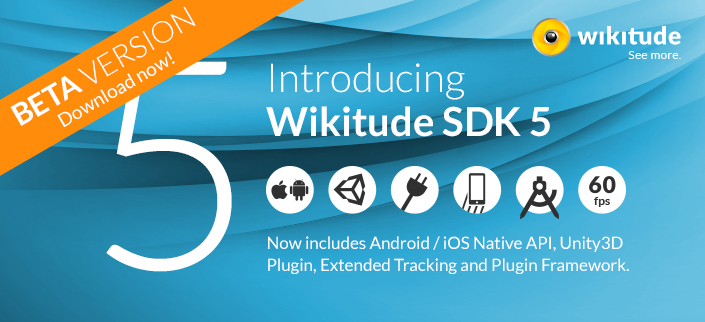 SDK 5 BETA live! Unity3D, extended tracking, plugins API - Wikitude