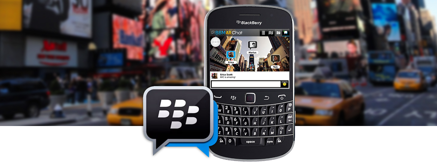 Blackberry Messenger in AR