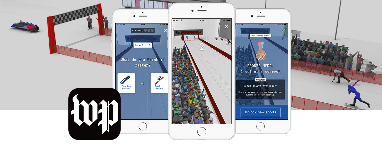 The Washington Post Winter Olympic AR app