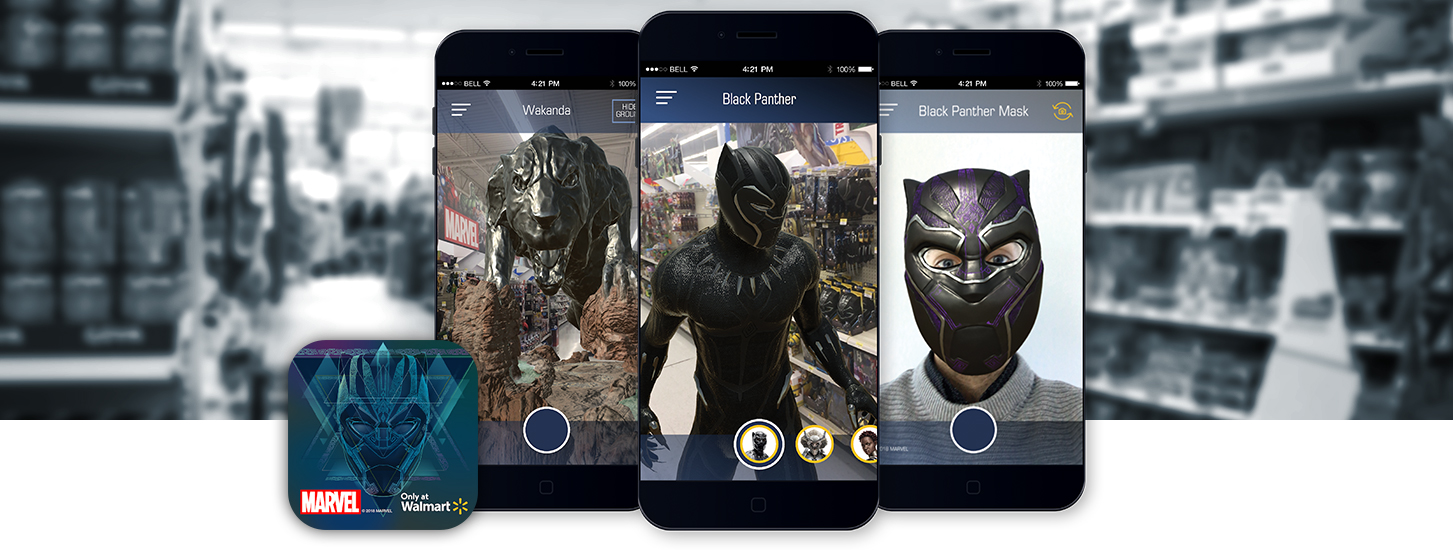 AR transforms Walmart into Marvel's Black Panther Wakanda