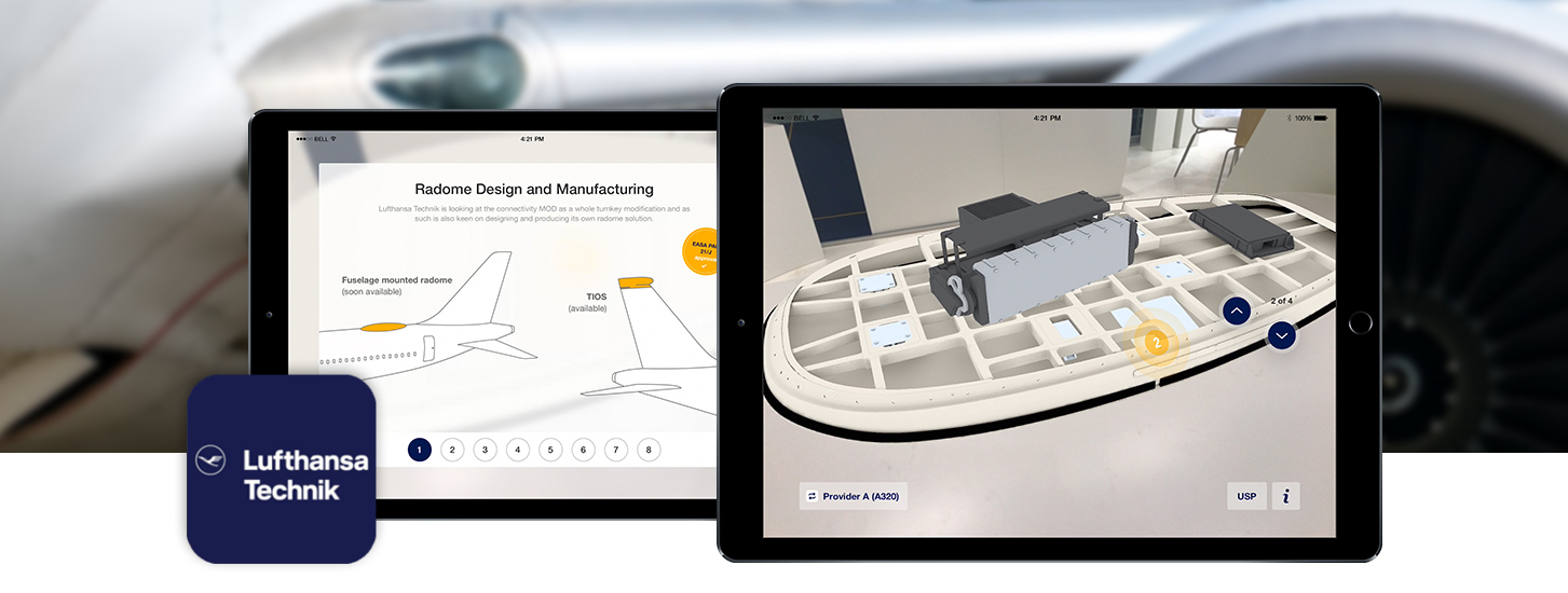 Lufthansa is using Augmented Reality at Trade Shows