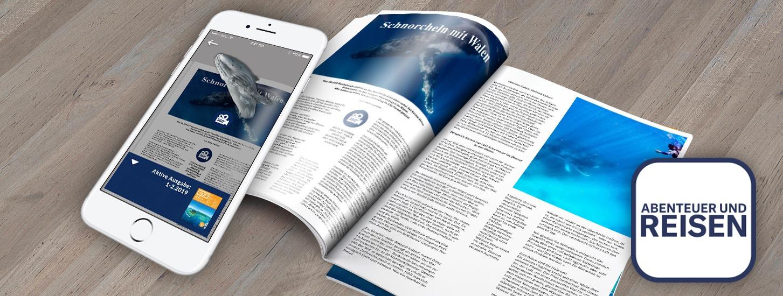 AR in print: ABENTEUER UND REISEN magazine