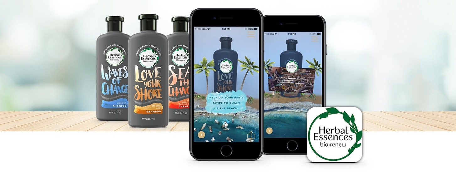The Herbal Essences AR Experience - augmented reality product packaging