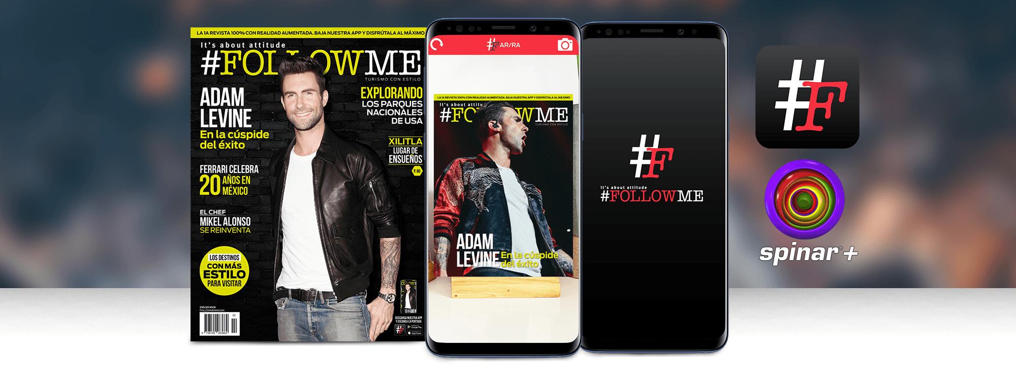 AR in print: FollowMe Magazine