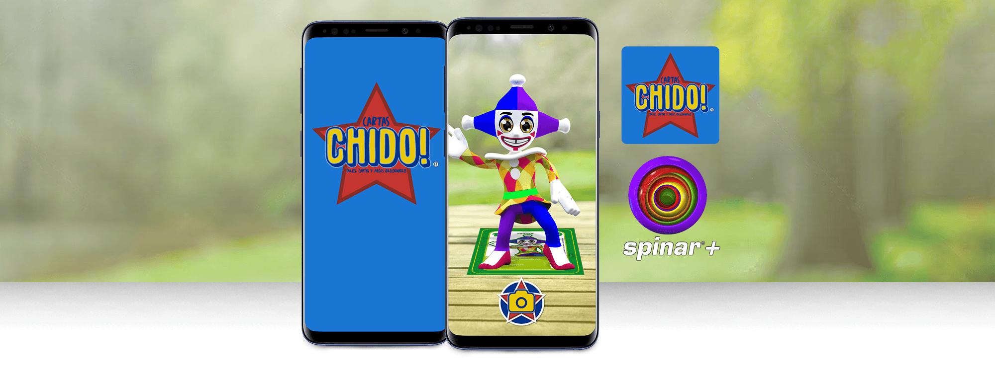 AR playing cards: Cartas Chido AR app