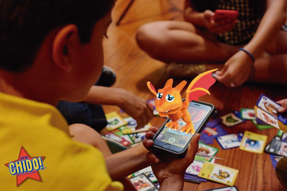 Augmented reality gaming cards: Cartas Chido!