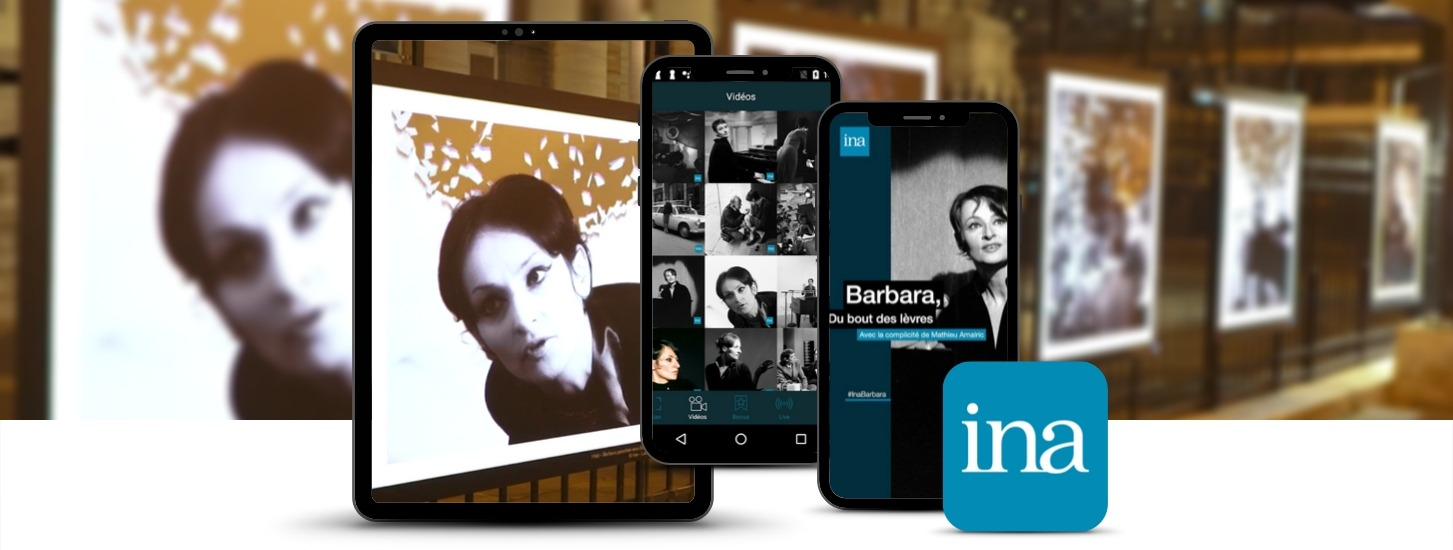 AR app used in special exhibition for french singer Barbara