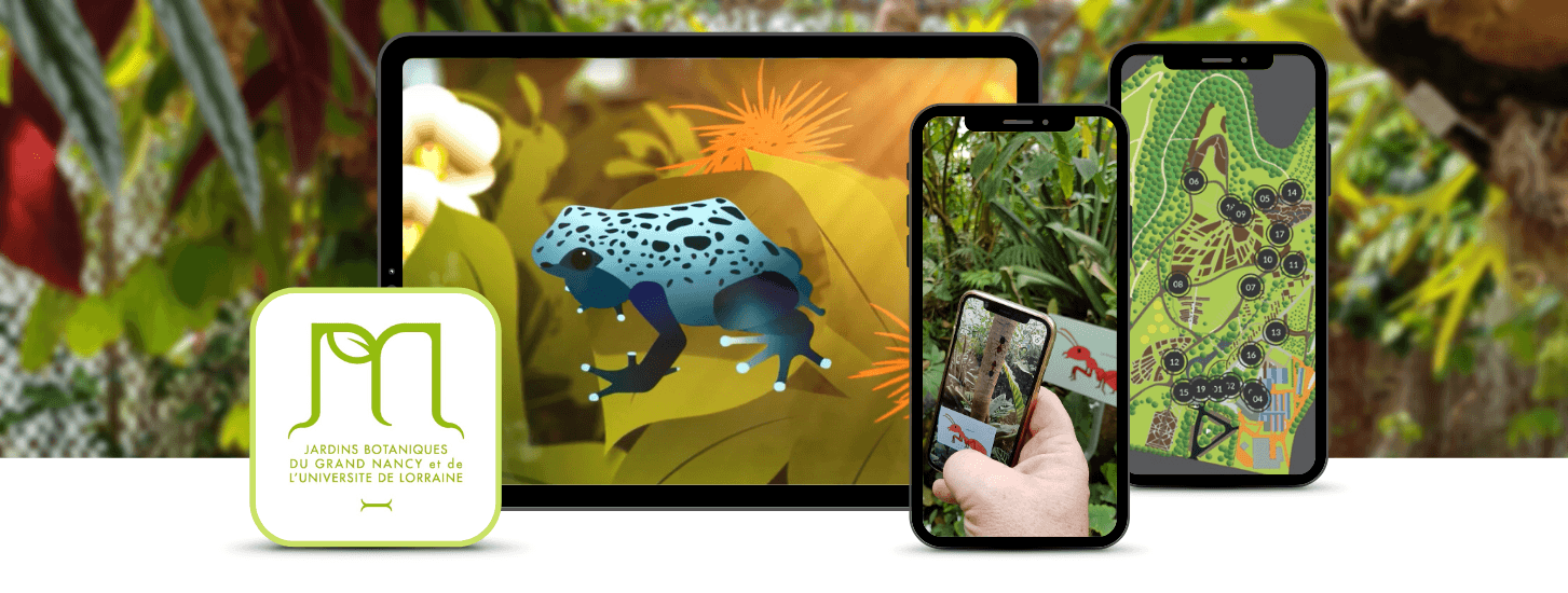 Augmented Living museum: botanical garden featuring AR wildlife