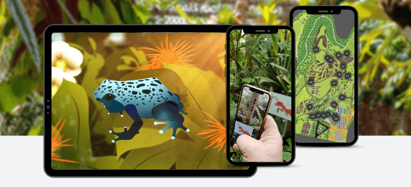 Augmented Reality in Museums: Living botanical museum featuring AR wildlife