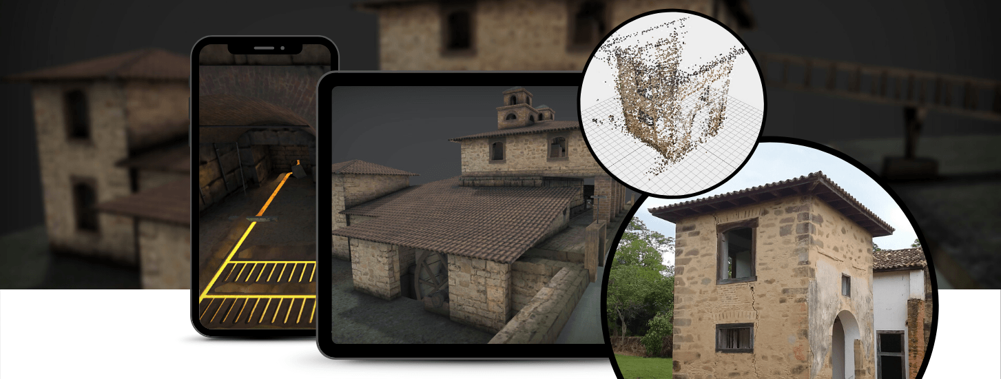 Building Tracking AR experience for ruin reconstruction