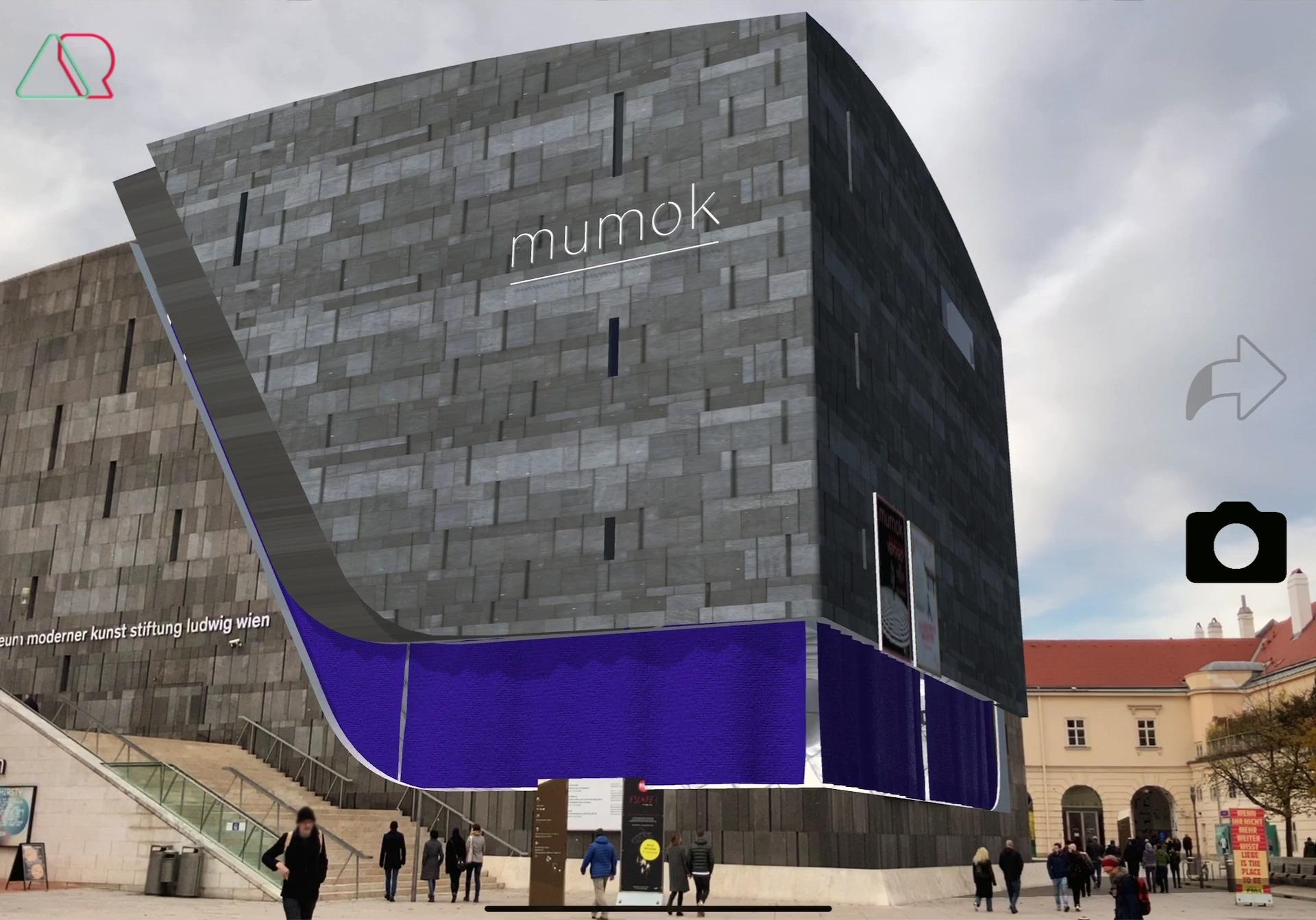 mumokAR Tracking main building with AR tech
