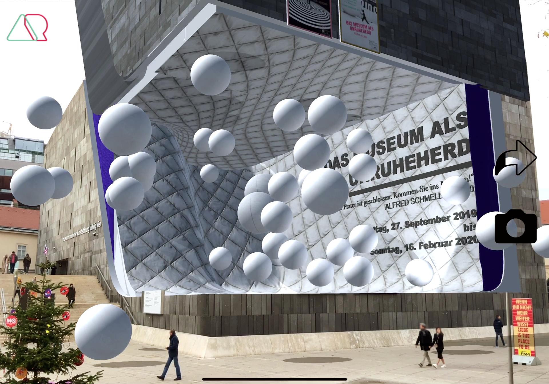 Mumok Museum in Vienna Tracking main building with augmented reality technology