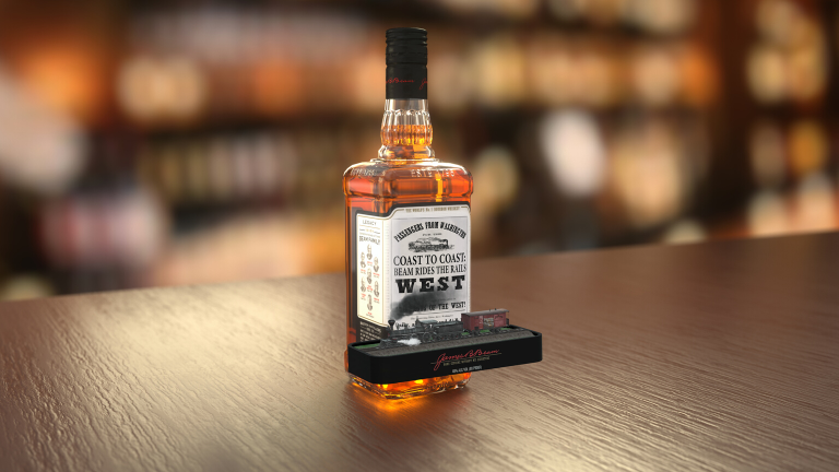Ar Product Packagin - Jim Beam augmented reality rides the rails west