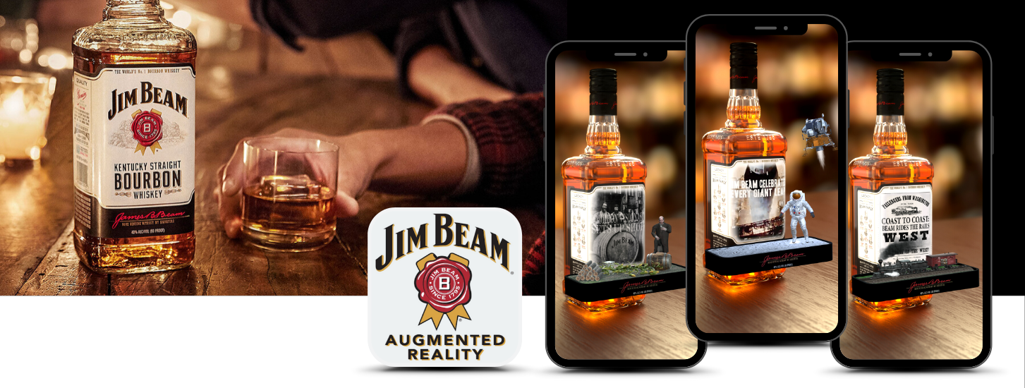 The Jim Beam Augmented Reality Experience - augmented reality product packaging