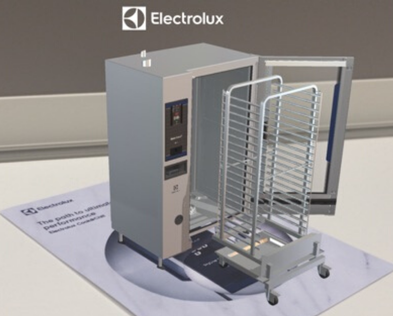 AR product visualization - Electrolux Professional appliance