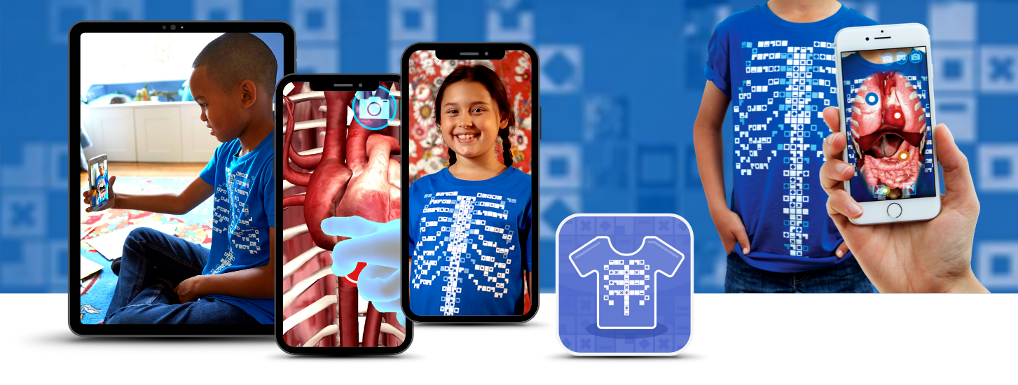 AR T-Shirt brings the science of anatomy to life